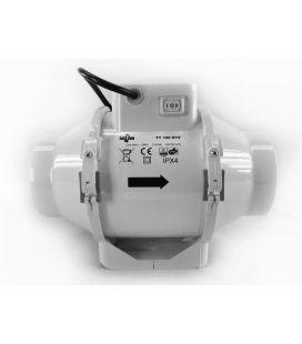 Taifun 2-Speed Inline Ventilator 145/187m³/h 100mm Flansch AC