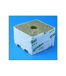 Grodan Steinwollblock 10x10x6,5cm (216 Stück) kleines Loch