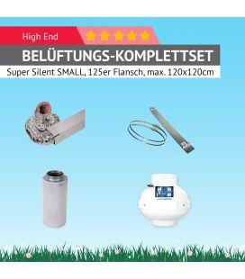 """AKF-Belüftungs-Set 125 Komplettset """"Super-Silent"""" SMALL für kleine Growboxen"""