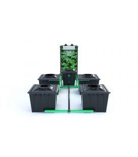 """Alien Hydroponics RDWC System """"Black Series"""" (36 Liter Töpfe) 4 Pflanzen"""