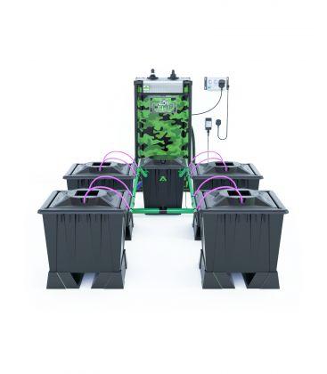 """Alien Hydroponics Rain Tröpfchenbewässerung """"Black Series"""" (30 Liter Töpfe) 4 Pflanzen"""