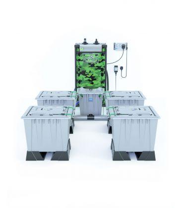 """Alien Hydroponics Rain Tröpfchenbewässerung """"Silver Series"""" (30 Liter Töpfe) 4 Pflanzen"""