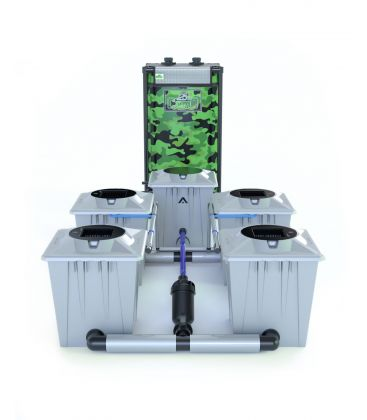 "Alien Hydroponics RDWC System ""Silber Series"" (20 Liter Töpfe) 4 Pflanzen"