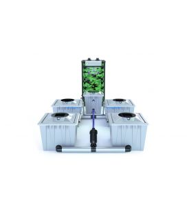 "Alien Hydroponics RDWC System ""Silver Series"" 36 Liter (4 Pflanzen)"