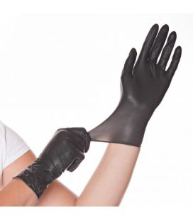 Latex Handschuhe (schwarz, 100 St.) Größe L