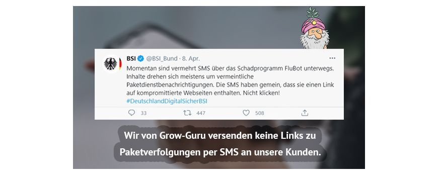 Achtung: Phishing-Betrug mit SMS!